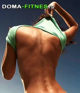 как похудеть в спине и животе